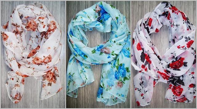 usaha hijab kain motif bunga