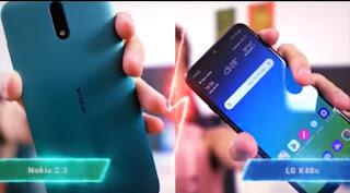 LG K40s vs NOKIA 2.3