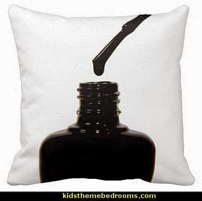 Nail Polish Pillow-fun pillows-nail polish theme decor