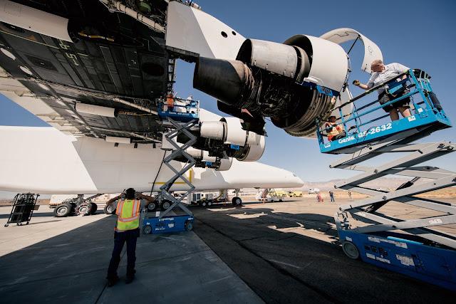 Stratolaunch'ın Boeing 747 motorları...