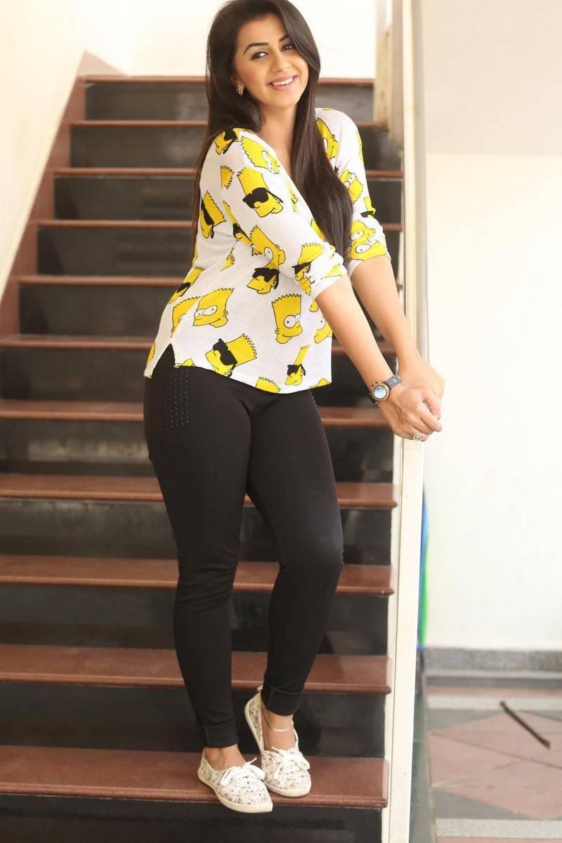 nikki galrani latest photos in tights at malupu interview
