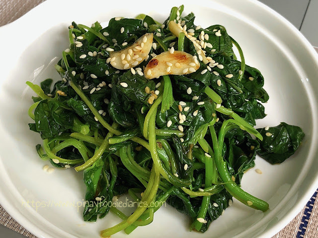 no-sauté garlic spinach