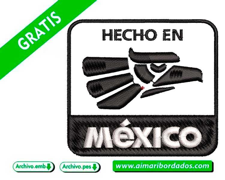 Logo Hecho en México para bordar a máquina DESCARGA GRATIS