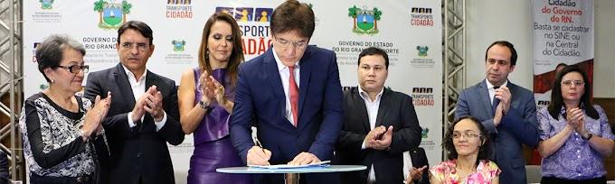 Governador Robinson Faria lança o Programa Transporte Cidadão
