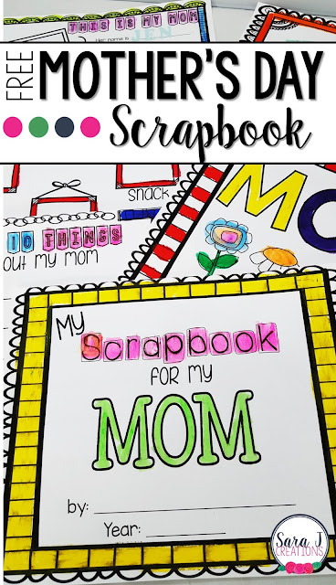 Free Mother's Day Scrapbook that makes the cutest gifts for moms on their special day
