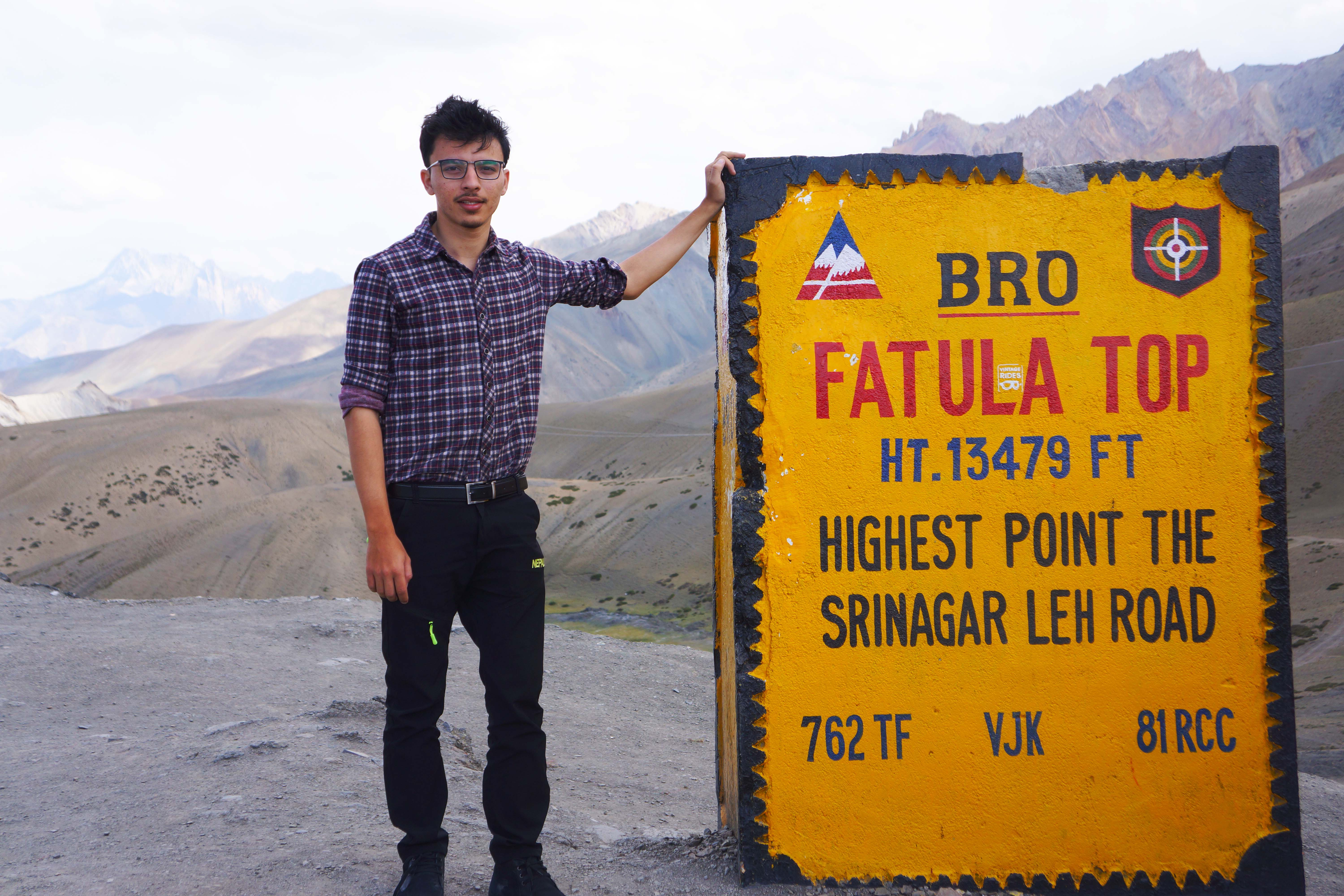 Beautiful view at fatula top ,the heighest point between srinagar leh highway altitude 13479 ft,Ladakh,Northern India