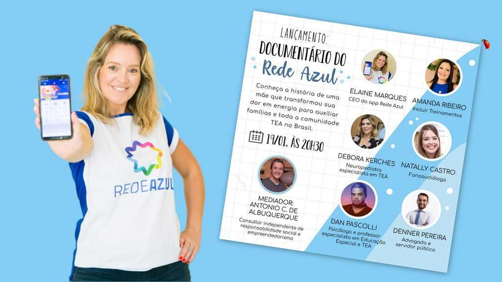 O aplicativo Rede Azul - que já reúne indicações de locais, serviços e oportunidades amigáveis à comunidade autista em quase todos os estados brasileiros - é o tema do documentário A Rede Azul, que será lançado nesta terça-feira, 19.