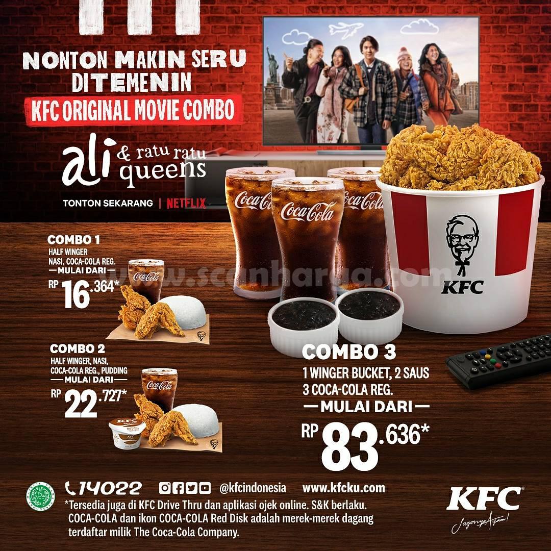 Promo KFC Original Movie Combo - Harga paket mulai dari 16 Ribuan