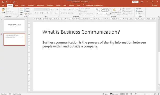 In the new slide, add content related to the topic of the presentation
