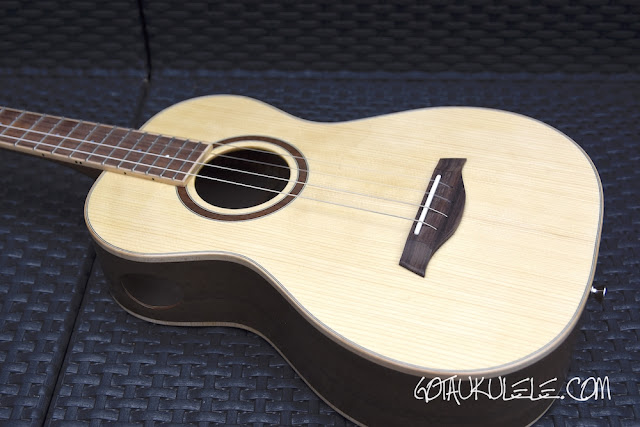 Paul Barnard Wildcat Baritone Ukulele body