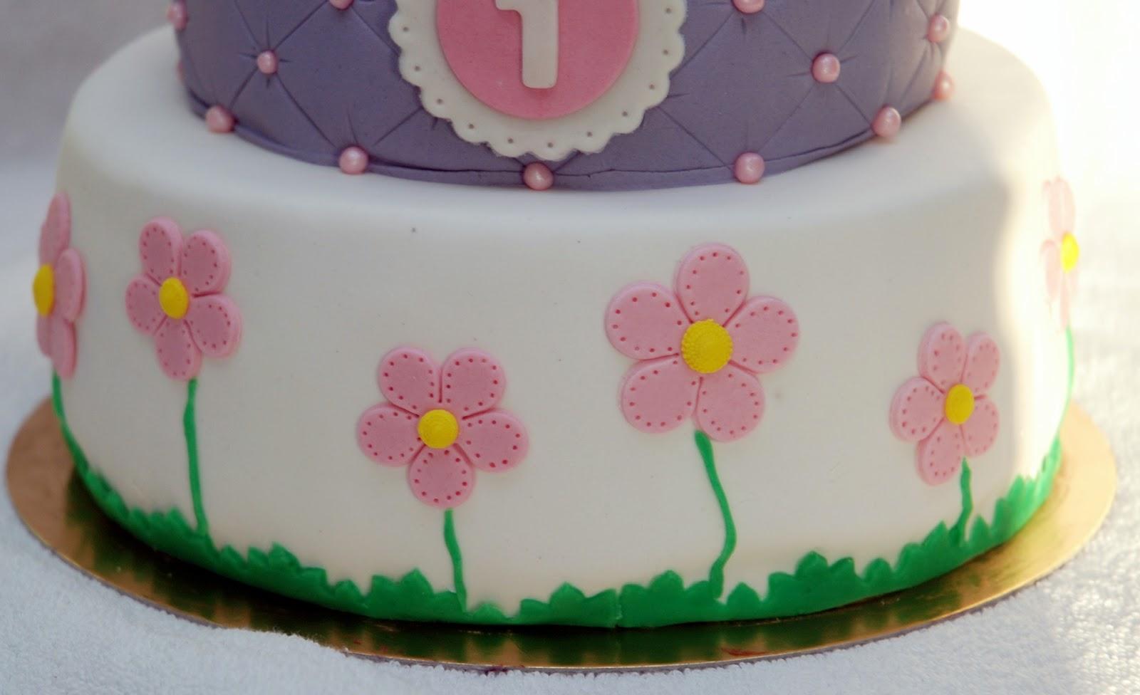 Babeczka Tort Na Roczek Dla Dziewczynki