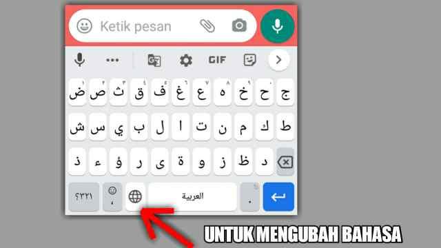 cara keyboard arab di gboard