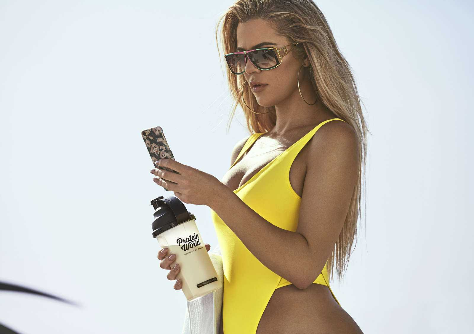 Khloe Kardashian poses for the Protein World Campaign 2017