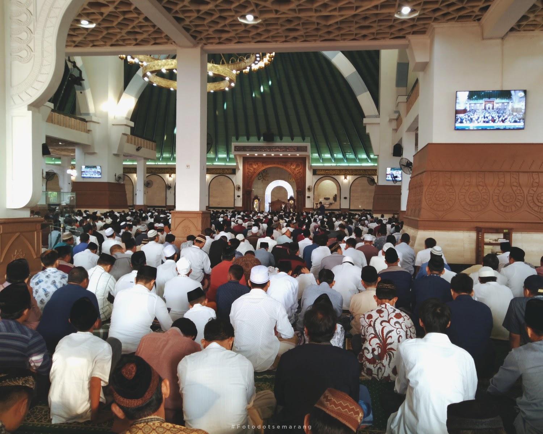 [Photoblog] Suasana Salat Idulfitri 1440 H di Masjid Agung Jawa Tengah