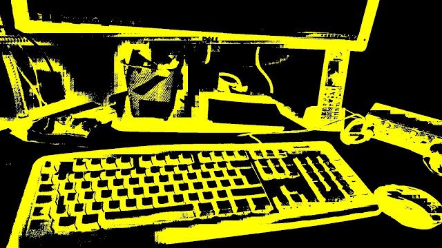 Computer-Tastatur, Bildschirm, Maus