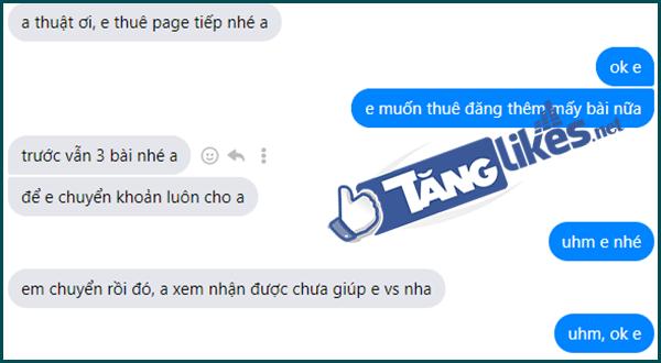 Cho thue fanpage