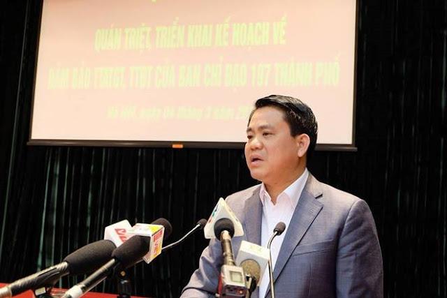 Chủ tịch UBND Hà Nội Nguyễn Đức Chung