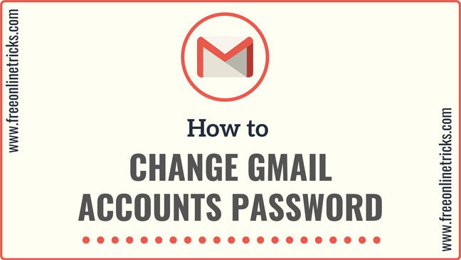 change gmail accounts password