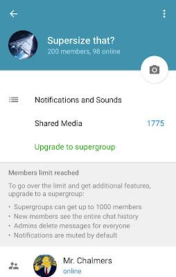 Telegram Group Kini Sehingga 1000 Ahli