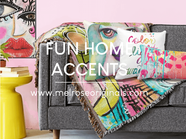 staged image of Fun Colorful Home Accents to Brighten up Your Space from Melrose Originals