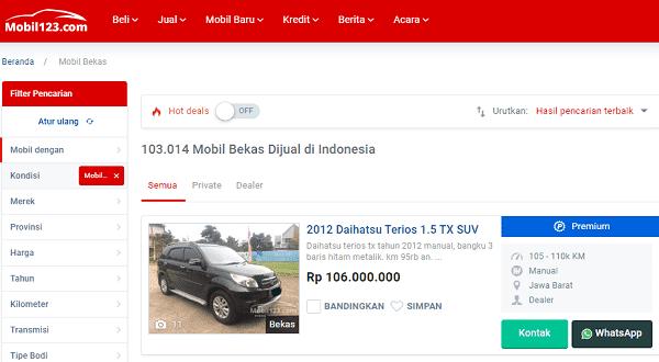 website tempat beli mobil bekas online yang terpercaya