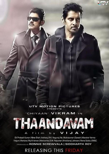 THAANDAVAM 2012 Dual Audio ORG Hindi 720p BluRay 1.4GB DD5.1Ch ESubs poster