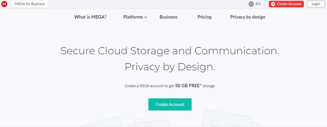 Mega layanan penyimpanan data online gratis
