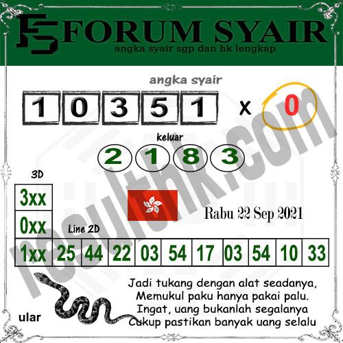 Forum syair hk Rabu 22 September 2021