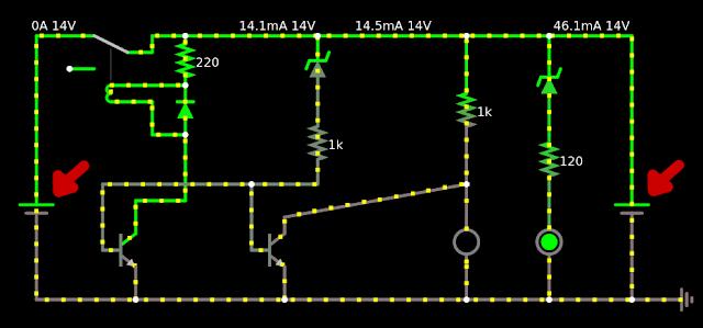 circuito eletrônico de carregamento de bateria carregador e bateria seta em vermelho