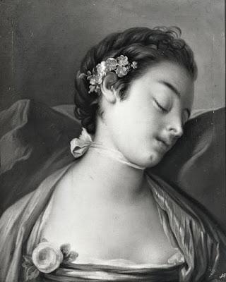 quadro donna dorme