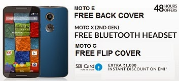 (Deal Over) Freebie +Extra Discount Offeron MOTO Phones@ Flipkart (Valid for Limited Period)