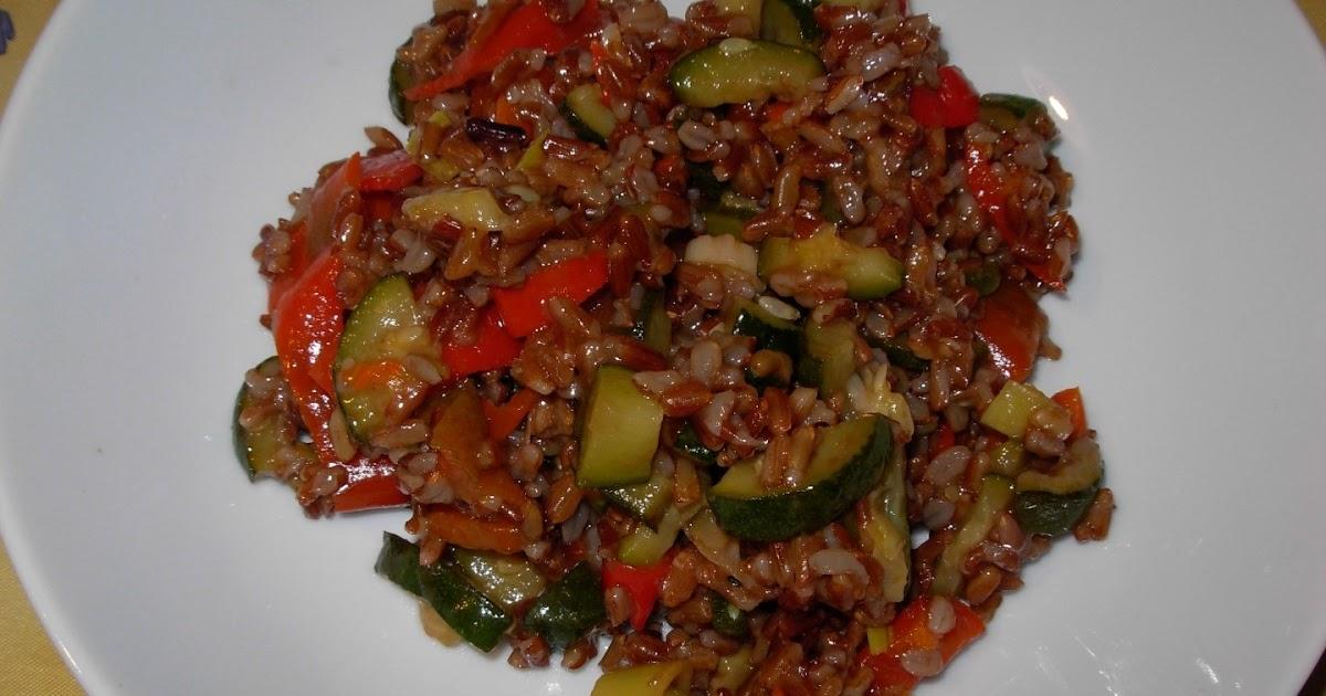 Risotto zucchine e peperoni