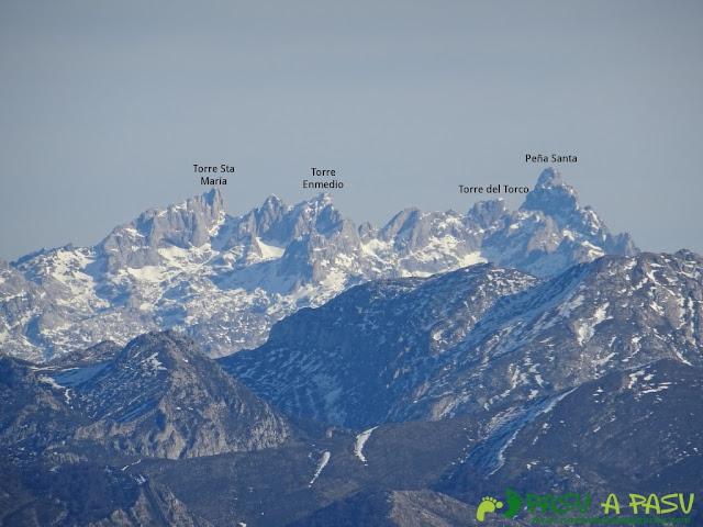 Desde el Cuchu vista del Macizo Occidental de Picos de Europa