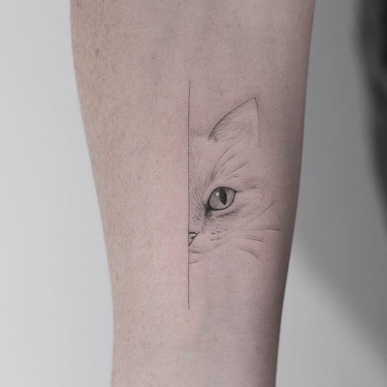 Cat eye Tattoo sleeve