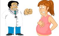 Una dama visita a su ginecólogo y le dice que no se siente bien.  Entonces este la examina y le dice:   -Señora felicidades Ud. sera madre.