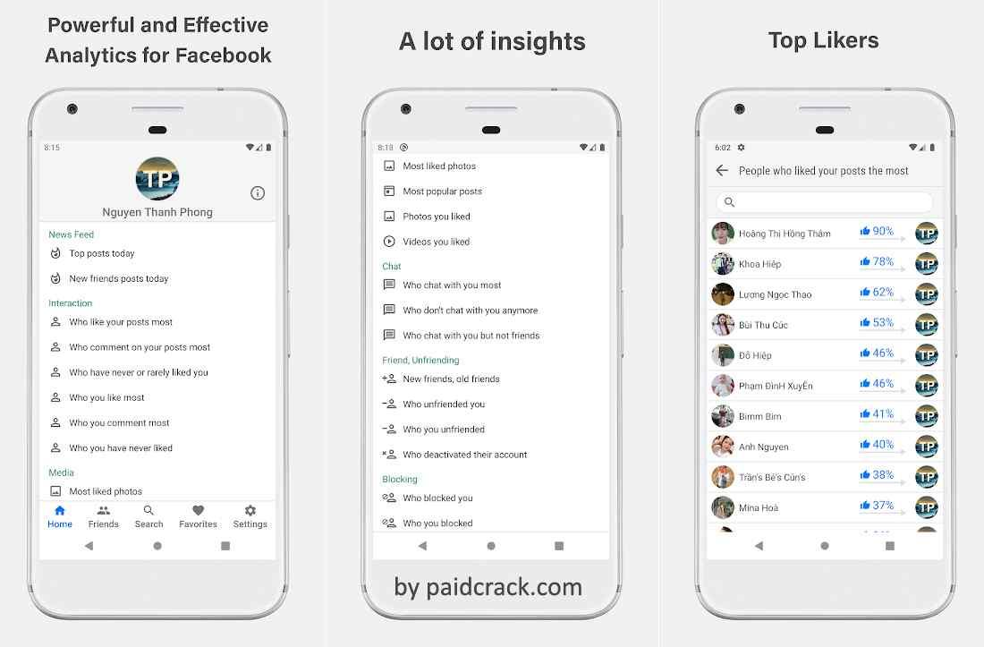 Interactive Analytics for Facebook Premium Mod Apk