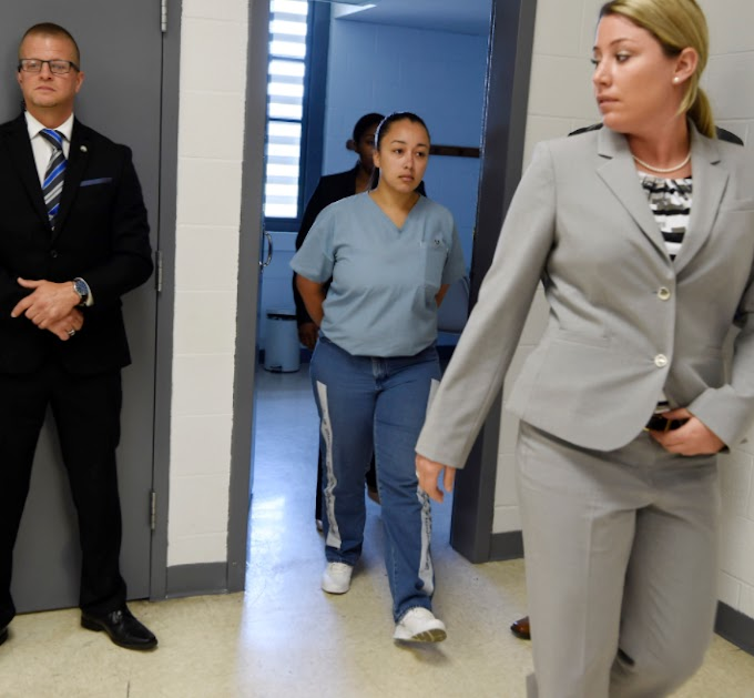 Cyntoia Brown finally released from a Tennessee prison today after spending 15 years in prison for killing man who hired her for sex