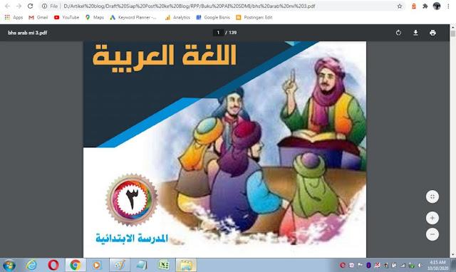 Buku bahasa arab kelas 3 sd/mi sesuai kma 183 tahun 2019