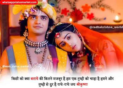 radha krishna status   radha krishna status in hindi
