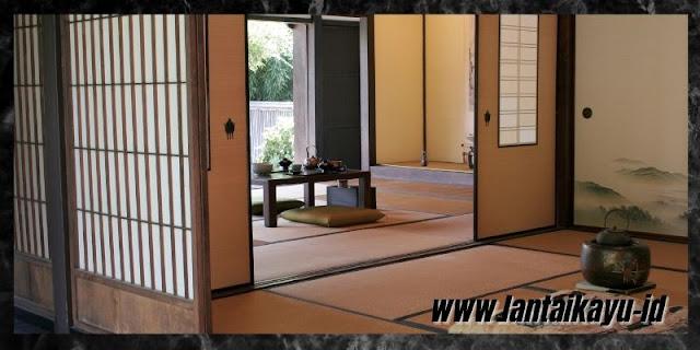 Cara Menata Dekorasi Interior Rumah Bergaya Jepang - gunakan pintu shoji