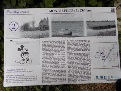 Chateau Monfreville information board