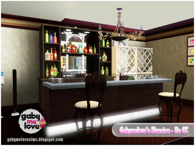 Gabymelove's Mansion |NO CC| ~ Lote Residencial, Sims 3. Bar.