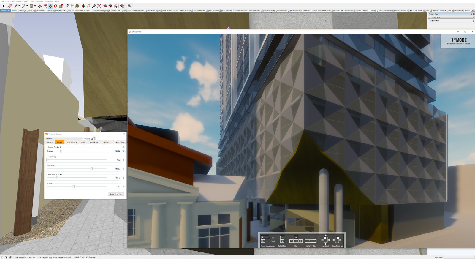 how to use raytrace in revit