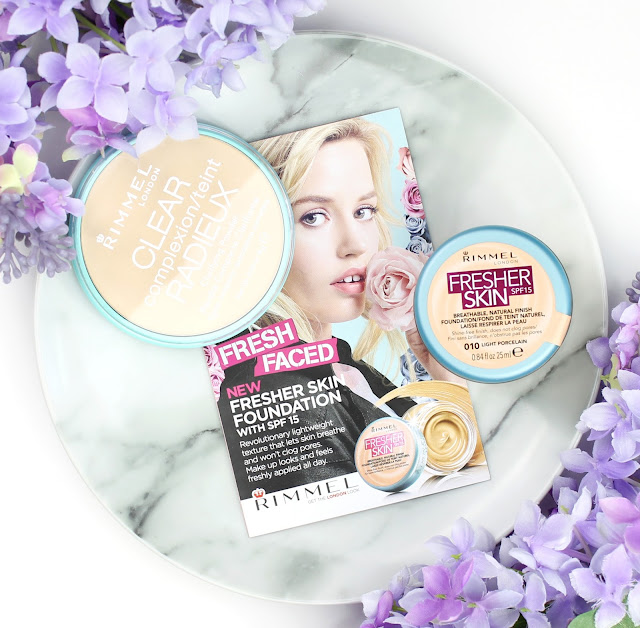 rimmel fresher skin foundation clear complexion clarifying powder review