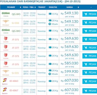 Harga Tiket Pesawat Murah Batik Air Rute Batak Ke Jakarta