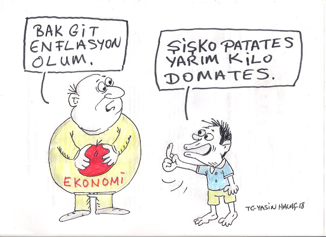 enflasyon karikatür