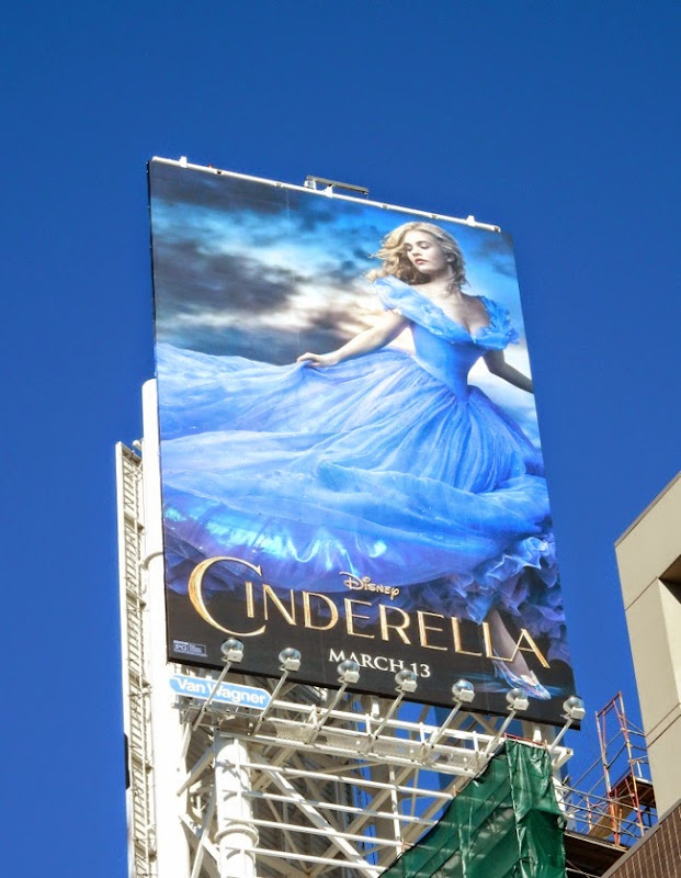 Disney Cinderella 2015 movie billboard