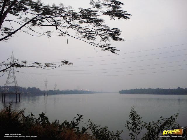 A view of Gurupur River on the way to Tannirbavi Beach, Mangalore, Dakshina Kannada, Karnataka, India