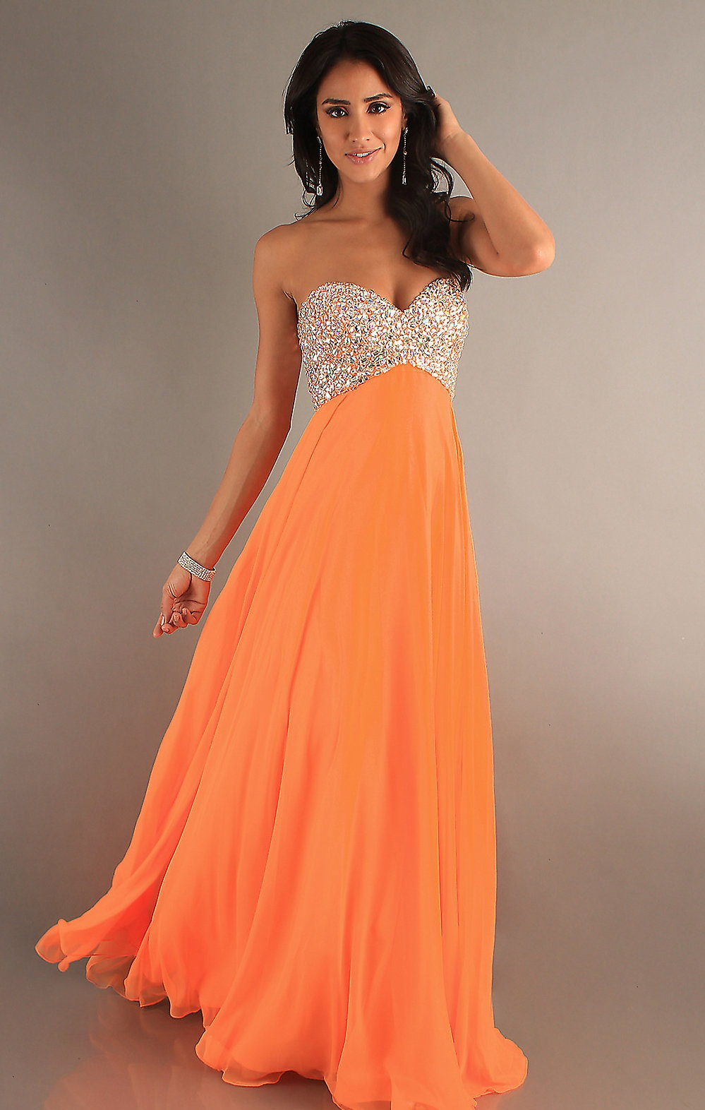 CHIN LENGTH HAIRSTYLES 2012: ORANGE PROM DRESSES CAN GIVE