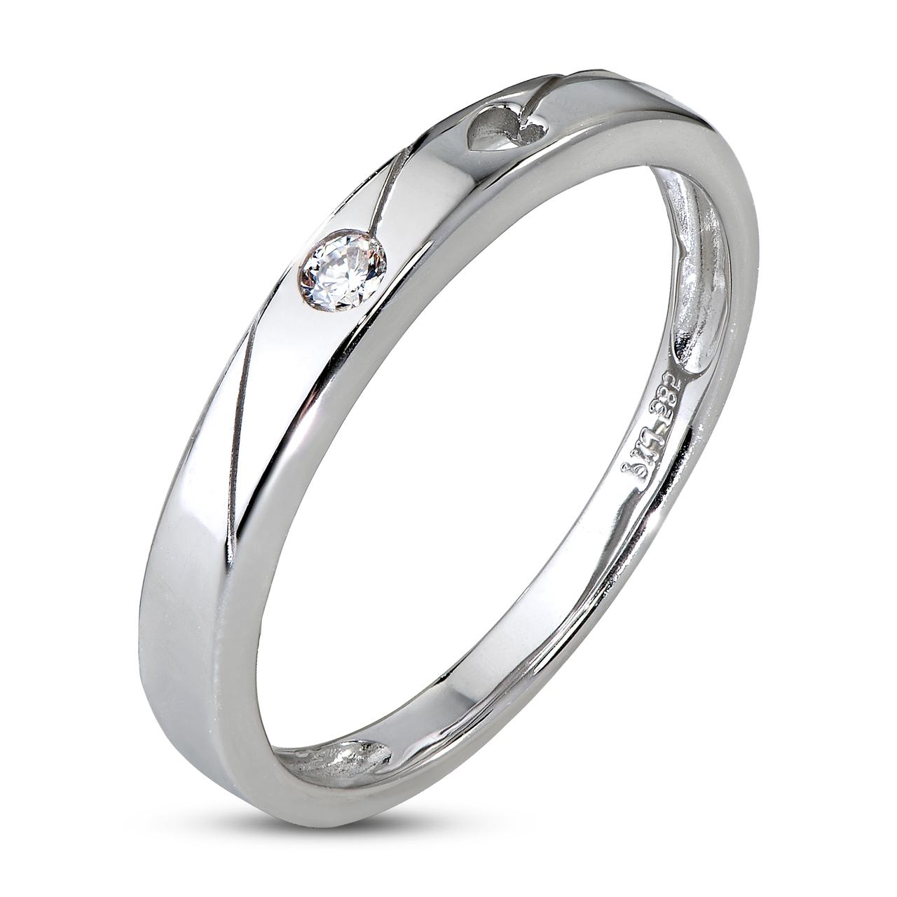Nhẫn cưới Kim cương Vàng trắng 14K PNJ Chung Đôi DD00W000362